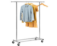 gd003 rolling clothing rack front view